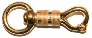 Panic Snap Twist Solid Brass